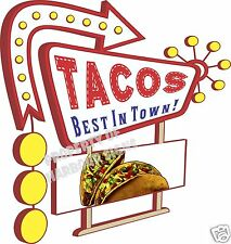 "Tacos Decal 14"" Taco Mexican Restaurant Concession Food Truck Vinyl Sign Sticker"