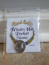 WITCHES HAT POCKET WISHING STONE COIN PAGAN WICCA SPIRITUAL SELF HELP Cat ResQ