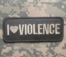 I LOVE VIOLENCE TACTICAL USA ARMY ACU LIGHT VELCRO® BRAND FASTENER PATCH