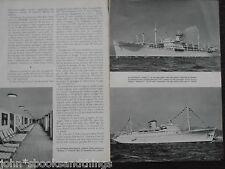 1959 L'ITALIA SUI MARI ARMAMENTO LIBERO TRANSATLANTICO FEDERICO C COSTA ANNA