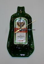 Handmade Jagermeister Wall Clock Melted Bottle Man Cave Battery Powered Novelty