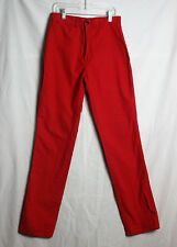 Vintage Women's Sasson Pants Red Long Casual Cotton