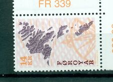 MAPPE - MAPS FOROYAR FAROER 1998 Common Stamps