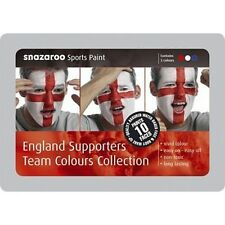 England Supporters Team Colours Face Paint Tin, Snazaroo, Fancy Dress 25597