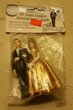 Vintage WILTON Mature Older Couple 50th Anniversary CAKE TOPPER in package ��