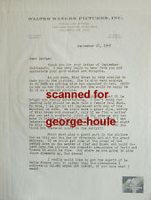 WALTER WANGER - LETTER - SIGNED - 1948 - CUKOR - GARBO(BROWN) - MAUGHAM - AA NOM
