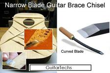 "GuitarTechs 1/8"" CURVED BLADE CHISEL for Guitar Brace and Body Work"