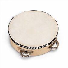 "6"" Musical Tambourine Tamborine Drum Round Percussion for KTV Party New"