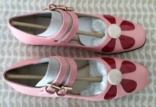 Orla Kiely Clarks, Angelina Pink Leather Shoes, Size 5D, EUR 38, Vintage Style
