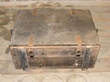 Old Ammunition Crate Wooden Chest, Material box Crate 6 Metal fittings WWII WH