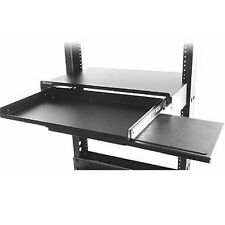 "19"" Relay Rack Mount Monitor & Keyboard Sliding Shelf Network IT Console Unit"