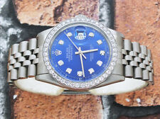 Gents Submariner Blue Diamond Dial & Bezel Gold Rolex Oyster Perpetual Datejust.