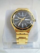 SWATCH CHARCOAL MEDAL YELLOW WATCH YGG705G BNWT IRONY COLLECTION GENUINE
