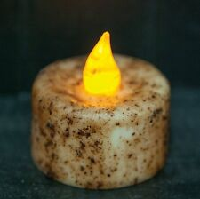 Burnt Ivory Tea Light Candle with Timer