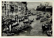 Cartolina Venezia - Canal Grande La Storica Regata Viaggiata