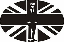 2 tone union jack decal sticker scooter LI SX TV GP PK  mod northern soul trojan