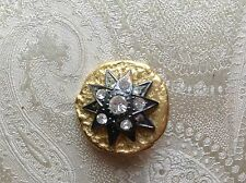 bottone gioiello STRASS SWAROVSKY  vintage BUTTONS BOUTONS COUTURE