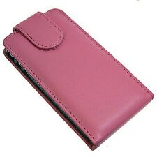 HTC HD2 Leather (Vertical) Flip Case - Pink