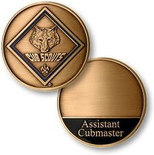 Cub Scout Assistant Cubmaster Challenge Coin Insignia Boy Scouting BSA Logo Den