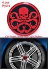 4 Pcs Hydra 3D Aluminum Alloy Car Auto Wheel Center Hub Cap Sticker Emblem Decal