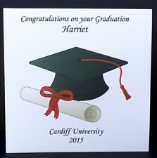 Personalised Congratulations on your Graduation Card Friend Son Daughter etc