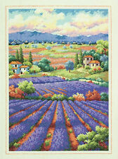 Cross Stitch Kit ~ Gold Collection Tuscany Fields of Lavender #70-35299
