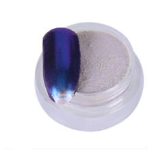 10g Mirror Chrome Effect Glitter Dust Magic Shimmer Nail Art Powder +Brush US#1