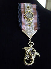 Steampunk Medal Dragon Corroded Time Medal Vintage Style Pin Badge Brooch