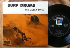 "THE LIVELY ONES ""SURF DRUMS"" ORIGINAL AUSSIE EP on LONDON EZA 7575 SURF"