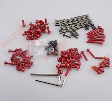 Red Fairing Bolts Kit Windscreen Screw for Yamaha YZF R1 R6 R6S 98-15