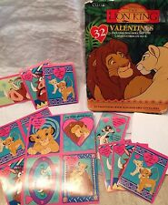 "Vintage (1990's) Disney ""Lion King"" Valentine's Cards for Kids/USA-made by Cleo"