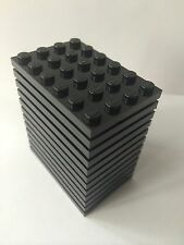 Lego New Lot Of 12 Plate 4x6 Black  Base Plate 4 X 6 Roof Floor Building Bricks