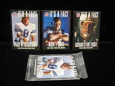"*1994 Troy Aikman Emmitt Smith Dan Marino ""Its a Fact"" 3ct Set Sealed #1,#2,#3"
