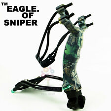 Thinkbay Eagle of Sniper Mg-Al Alloy Slingshot Catapult+Cowhide Cover+Clamp Pro