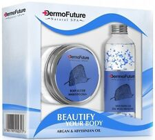 DERMOFUTURE NATURAL SPA ARGAN & ABYSSINIAN OIL GIFT SET Body BUTTER + Shower GEL