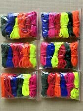 """NEW ~ 36 Pair ~ 60"""" Long Shoelaces Blue Red Pink Green Orange Neon Yellow"""