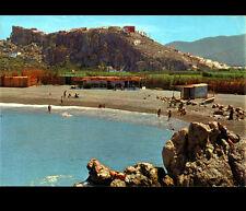 SALOBRENA (ESPAGNE) RESTAURANT PAILLOTE à la PLAGE animée & PICACHILLO en 1988