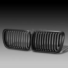 Pair Matte Black Front Hood Kidney Grill Grille For BMW 3 Series E36 M3 97-99