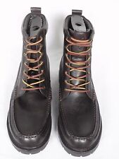 NEW Mens Ralph Lauren Dark Brown Grained Leather Boots UK 10 E USA 11 RRP £195