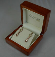 Stunning Clogau 9ct Yellow & Rose Gold Welsh Gold Lovespoon Stud Earrings.