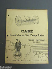 1947 CASE-OSBORNE SELF DUMP RAKES PARTS CATALOG NO. E305 TRACTOR ATTACHMENT