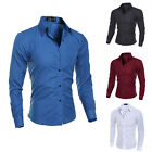 Fashion Mens Button Down Slim Fit Long Sleeve Casual/Formal Dress Shirts Shirt