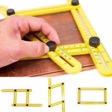 Adjustable Four-Sided Folding Measuring Tool Multi-Angle Template Scale Ruler m1