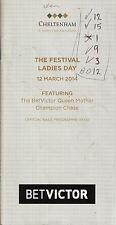 Cheltenham Festival señoras del día 12 de marzo 2014. Alonso en muy buena condición
