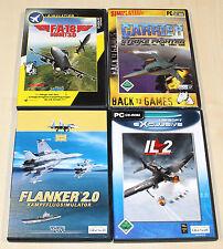 PC SPIELE SAMMLUNG FLUG JET SIMULATOR 2011 IL 2 STURMOVIK FA HORNET WW II STRIKE