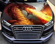 Vinyl Car Hood Full Color Graphics Decal Fantasy Dragon Fire Flame Sticker