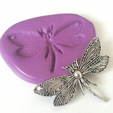 DRAGONFLY Silicone Mould 50 mm - Cake Decorate Fimo Clay Sugarpaste Icing PMC