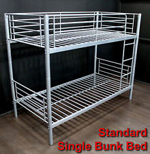 1 x BUNK BEDS SINGLE - SILVER GREY