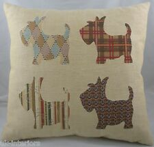 "18"" Scottie Dog Scottish Terrier Puppy Belgian Tapestry Cushion Evans Lichfield"