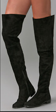 Stuart Weitzman HILO Thigh High Boot Black Suede Leather OTK Over the Knee 9 M